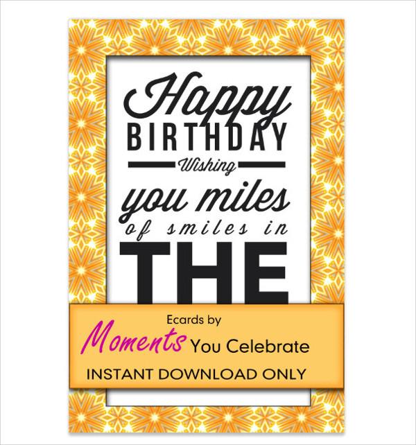 Animated Birthday Ecard