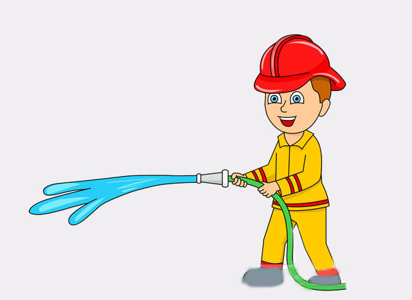 Animated Fire Man Clipart