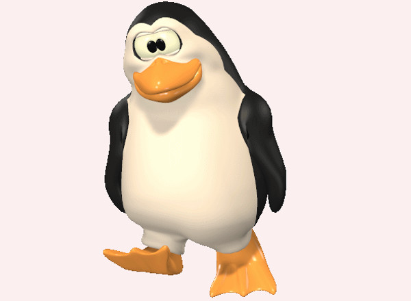 Animated Penguin Clip Art