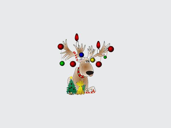 Animated Reindeer Clip Art