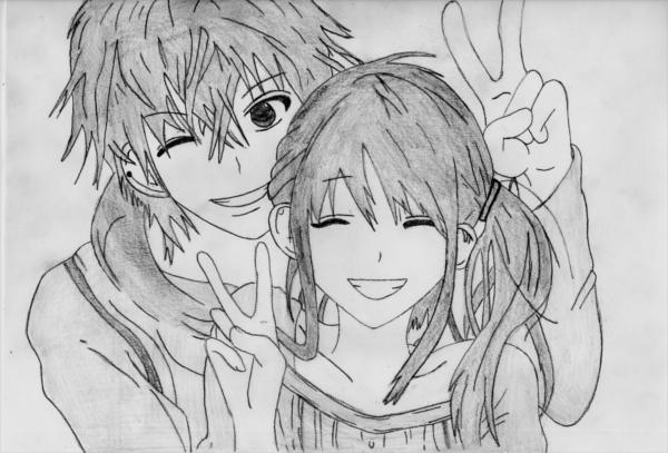 Anime Couple Drawing