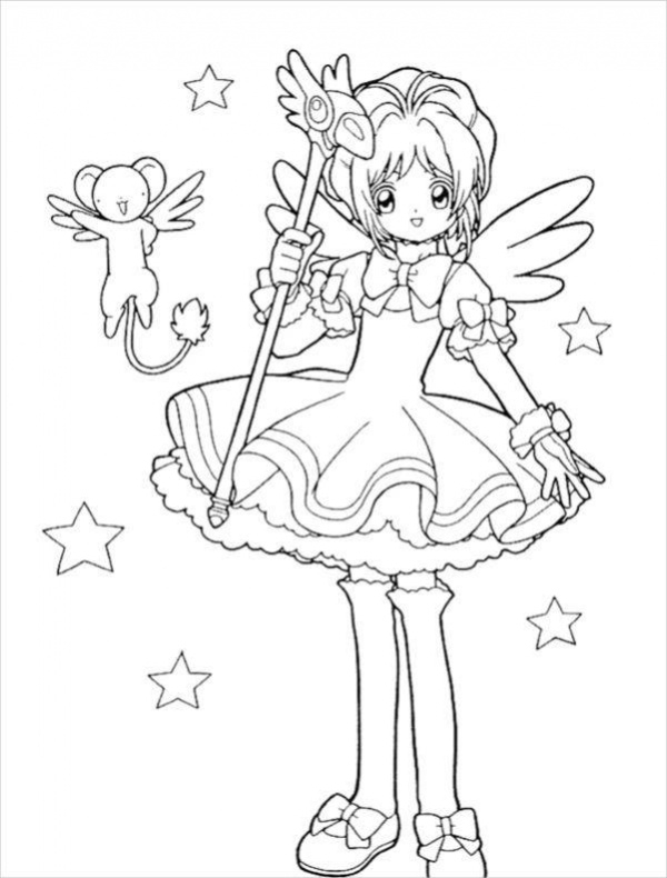 Advanced Coloring Pages Of Fairies : Advanced fairy coloring pages anime