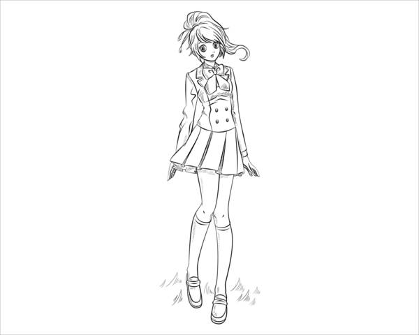 9 Anime Coloring Pages JPG AI Illustrator