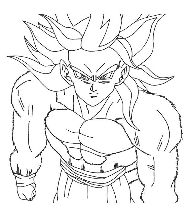Anime Goku Coloring Page