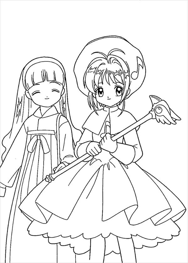 Anime Kids Coloring Page