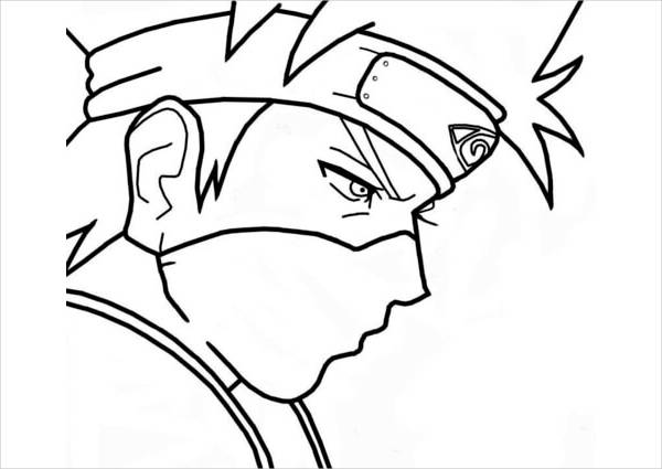 Anime Naruto Coloring Page