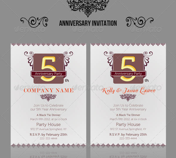 Anniversary Invitation Greetings