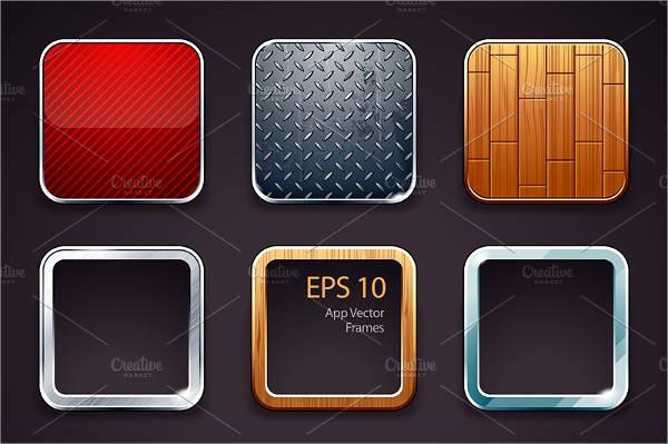 App Icons Frames Set
