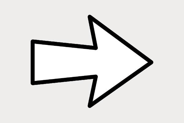 Arrow Black and White Clip Art