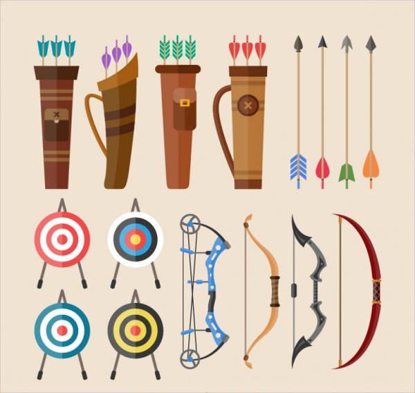 arrow bow vector