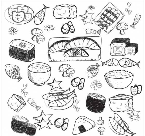 Asian Food Drawing