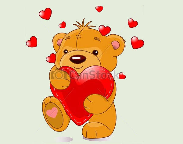 Baby Bear With Heart Clipart