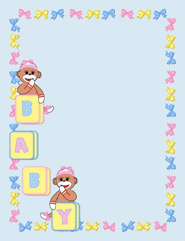 Baby Borders Clip Art