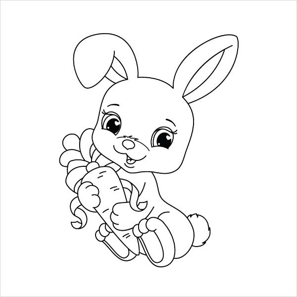 realistic baby bunny coloring pages - photo#25