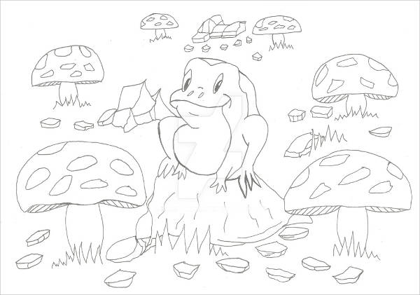 Baby Frog Drawing