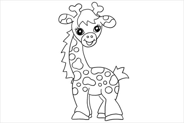 FREE 7+ Giraffe Coloring Pages In AI