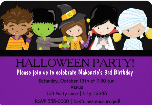 Baby Halloween Party Invitation