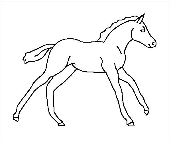 Baby Horse Coloring Page