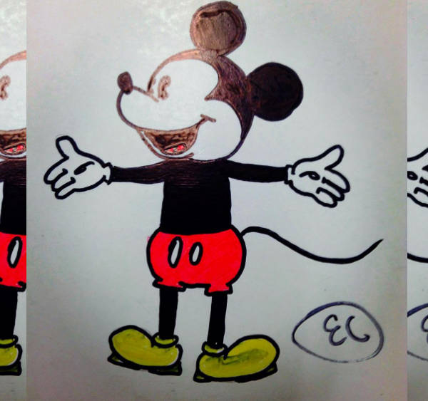 Baby Mickey Mouse Drawing