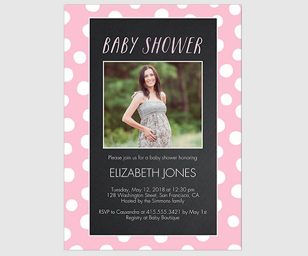 Baby Shower Invitation with Photo