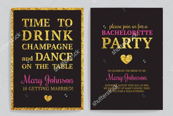 Bachelore Printable Party Invitation