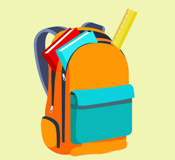 Back to School Bag Clipart