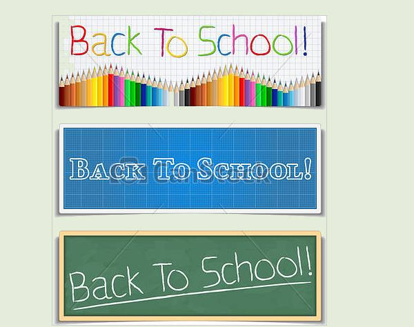 Back to School Banners Clipart