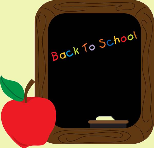 Back to School Chalkboard Clip Art