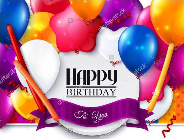 Balloon Birthday Card Idea