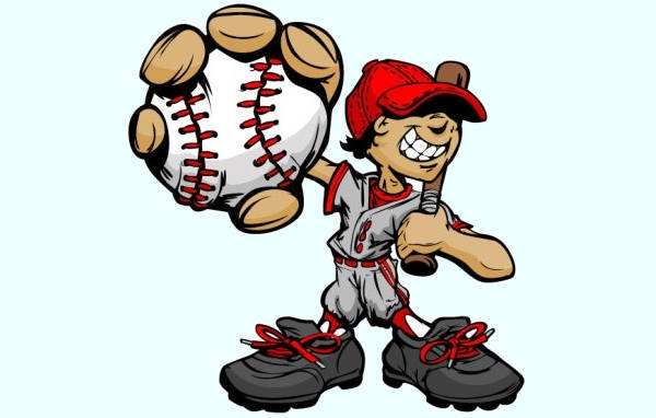 Baseball Animated Charcter Clipart