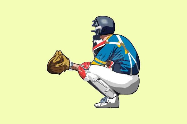 Baseball Catcher Clip Art