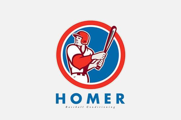Baseball Hitter Logo