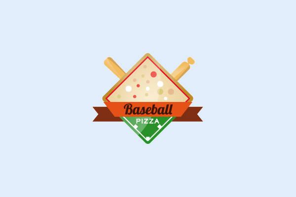 Baseball Pizza Logo