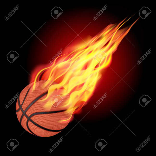 Basketball Fire Clipart