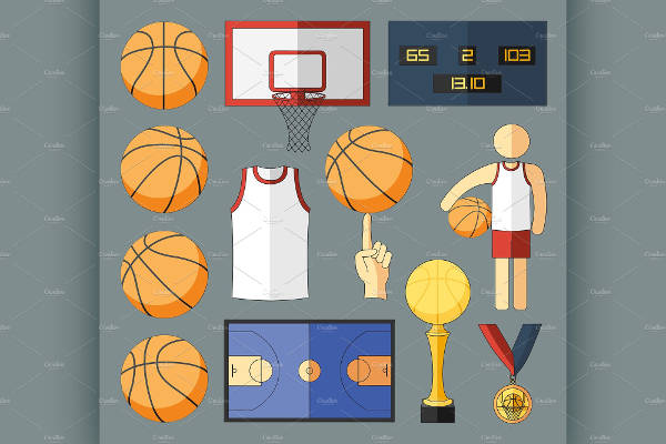 Basketball Vector Elements
