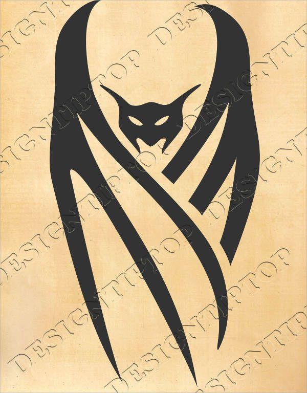 Bat Silhouette Tattoo