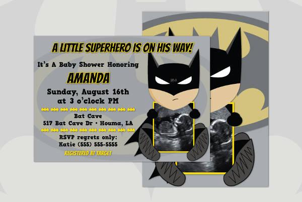 Batman Baby Shower Invitation
