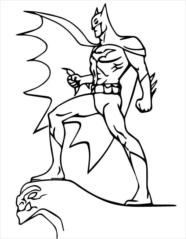 Batman Cartoon Coloring Page