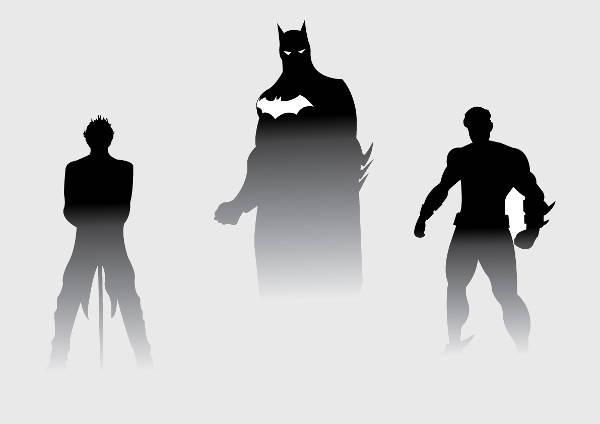 Batman Character Silhouette