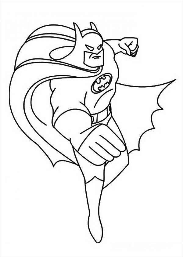 Batman Coloring Page for Preschoolers