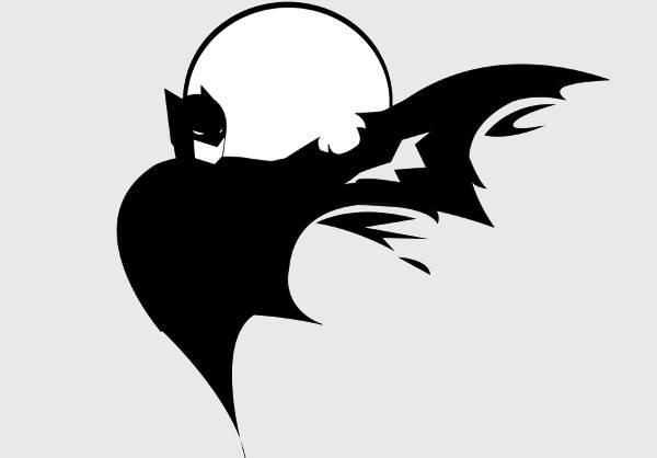 Batman Comic Silhouette