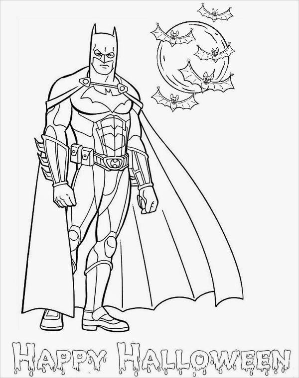 Batman Halloween Coloring Page