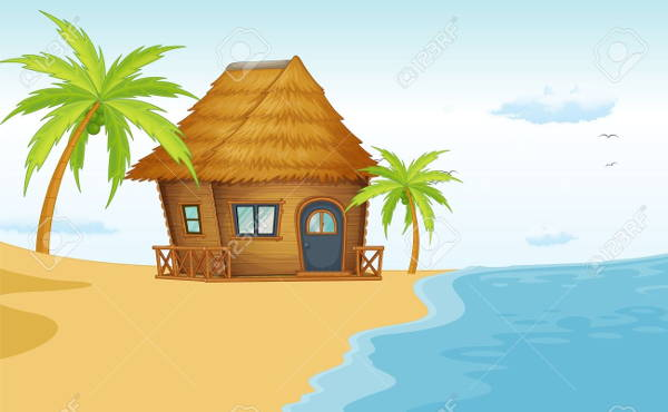 Beach Hut Clipart