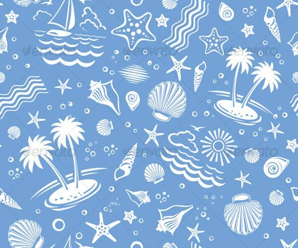 beach vector pattern