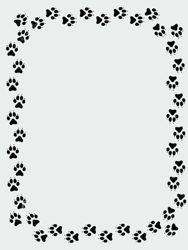 Bear Paw Border Clip Art