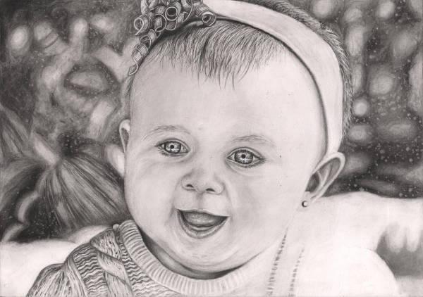 Beautiful Baby Girl Drawing