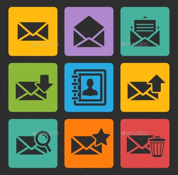 Beautiful Email Icon Set