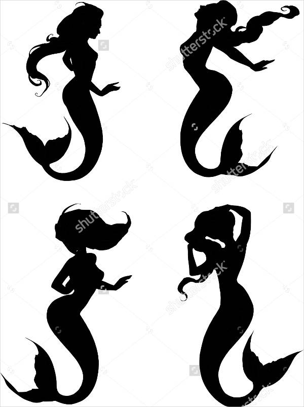 Beautiful Mermaid Silhouettes