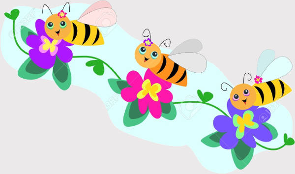 Bee Line Clipart