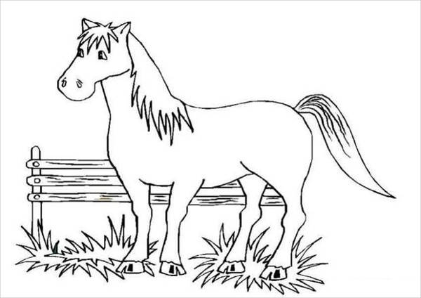 Big Horse Coloring Page